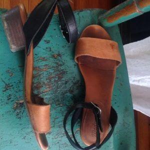Madewell Veronique sandal mule Alexa chung heel
